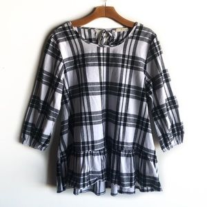 Coco & Main plaid flannel tunic top